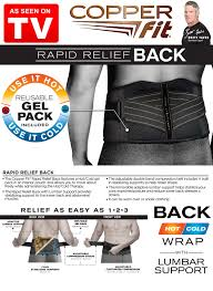 Le support Dorsal Rapid Relief - COOPER FIT - Chrimertah - Maroc