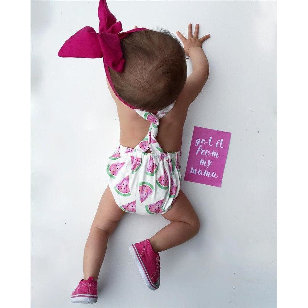 a42d9fb7c ... Load image into Gallery viewer, Kidstylo   Sleeveless Watermelon Outfit  - Free Shipping - Baby ...