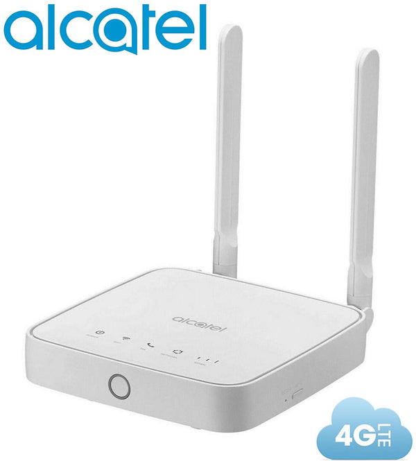 Router Alcatel Link Hub 4G LTE Unlocked Worldwide HH41NH Multibam 150 Mbps Wi-Fi (4G LTE USA Latin Caribbean Euro Asia Africa) + RJ45 Up to 32 Users