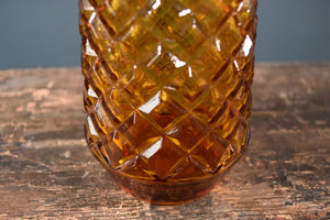 Rossini amber harlequin genie bottle decanter with stopper