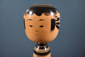Vintage Traditional black Yajiro Kokeshi doll