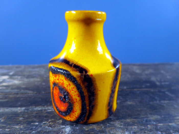 1970's West German Scheurich Vase in Bright Orange