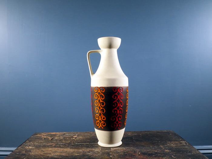 Dümler & Breiden patterned pitcher shaped West German vase 347-40