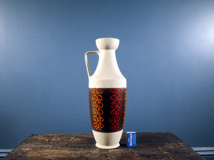 Dümler & Breiden patterned pitcher shaped vintage West German Pottery vase 347-40