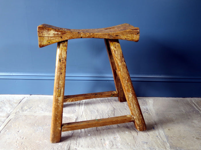 Rustic Georgian workers stool