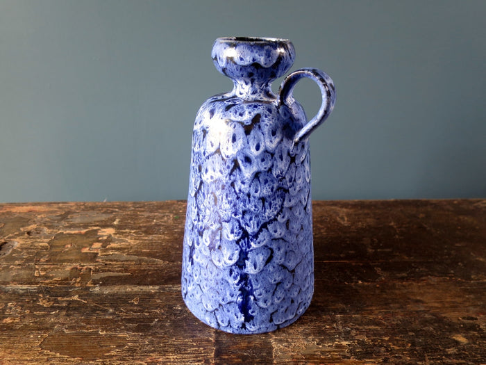 Stunning vintage East German KTU Unterstab blue mottled vase
