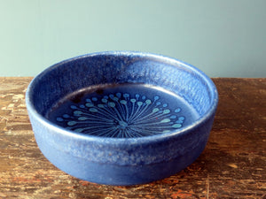 Silberdistel Keramik colbalt blue vintage West German Pottery Vase bowl 710-20