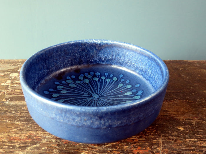 Superb Silberdistel Keramik blue West German bowl 710-20
