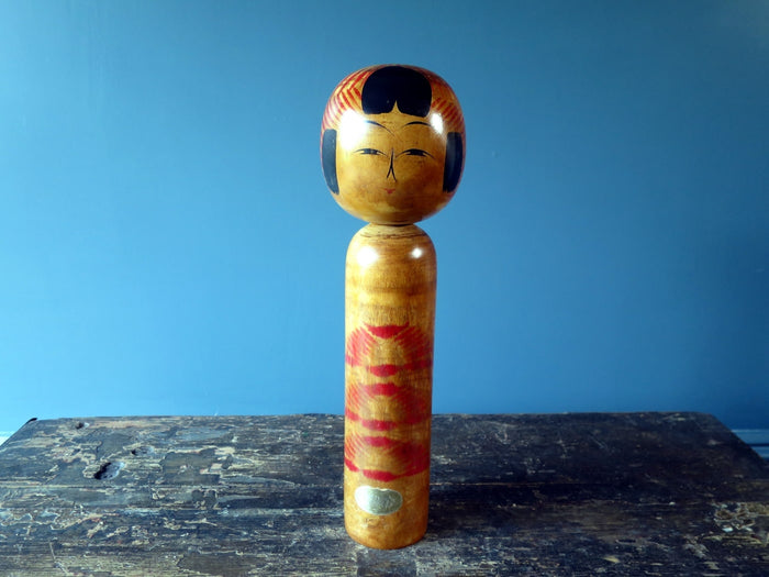 Kokeshi doll - Togatta with original sticker - large (32cm)