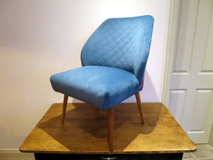 Re-upholstered 1950s European cocktail chair