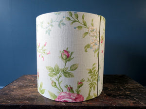 Lampshade - tall ceiling style made from vintage fabric