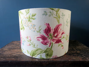 Lampshade - wide lamp style made from vintage fabric