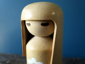 Kokeshi doll - Sosuka Creative design called Hanagokoro (Flower Heart) by Miyajima Muhitsu
