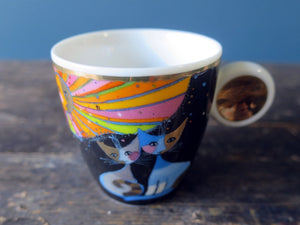 Rosina Wachtmeister for Goebel porcelain cat espresso cups