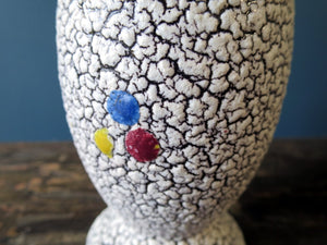 1960s West German 3 dots vase by Jopeko Keramik vase with Cortina glaze