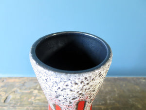 Scheurich Keramik West German Pottery vase with Lora pattern 206-27