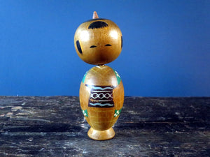 "Kokeshi doll - pair of Donko style ""Mr and Mrs"" nodders bobbleheads"