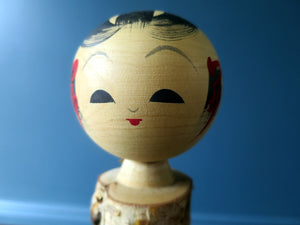 Japanese Souvenir Kokeshi doll, Souvenir in birch wood