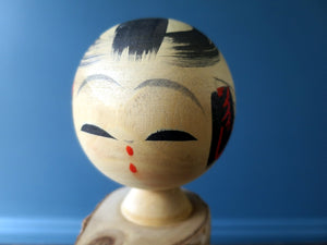 Japanese wooden Kokeshi doll - Souvenir in birch wood