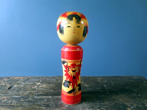 Japanese Kokeshi doll - Naruko design