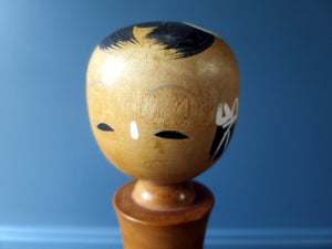 Japanese wooden Kokeshi doll - Creative souvenir with river scene