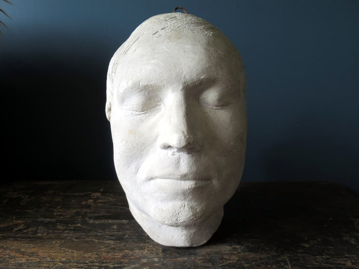 Stunning early 20th century plaster death mask