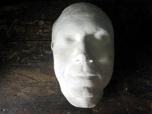 Early 20th century Victorian plaster death mask