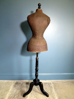1880s French Victorian wasp-waist mannequin 40 inches