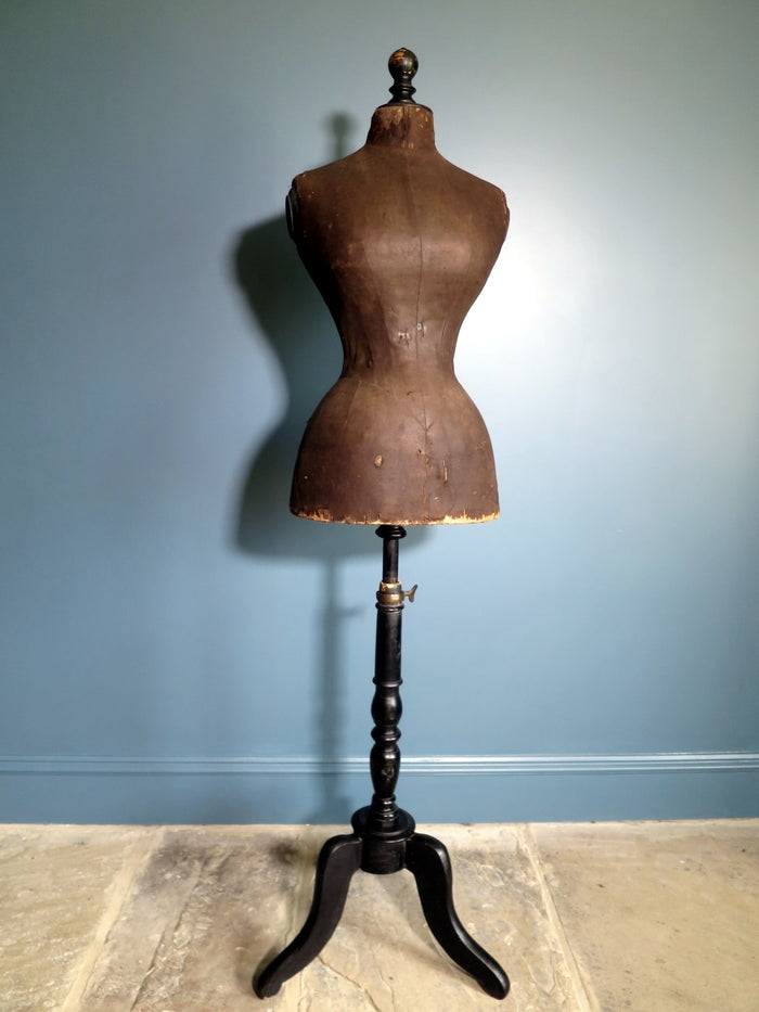 1880s French Victorian wasp-waist mannequin (40in)