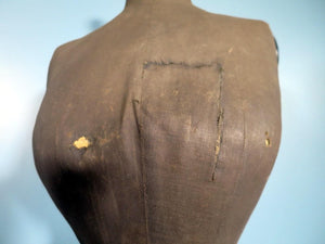 1880s French Victorian wasp-waist mannequin 42 inches