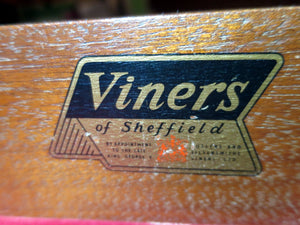 Vintage 1960s Viners cutlery table/canteen by Gerald Benney