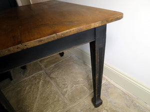Early 20th century French farmhouse kitchen side table