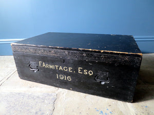 Antique fireproof deeds/document trunk