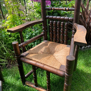 Stunning pair of 1890s arts and crafts chairs