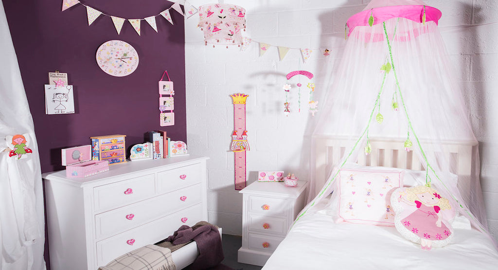 Fairy & princess accessories in a children's bedroom