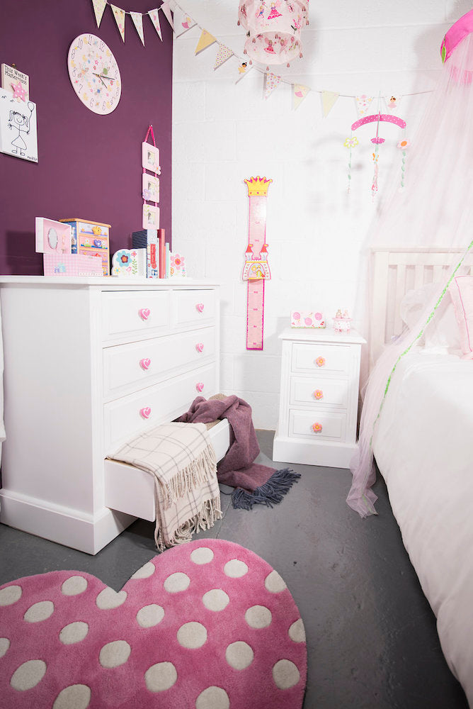 fairy and princess bedroom accessories for children. rugs, bookends, clocks, door knobs, height charts, mobiles,photos frames,bed canopies,