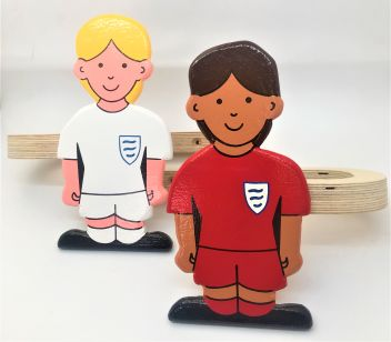 footballer girls curtain tie backs