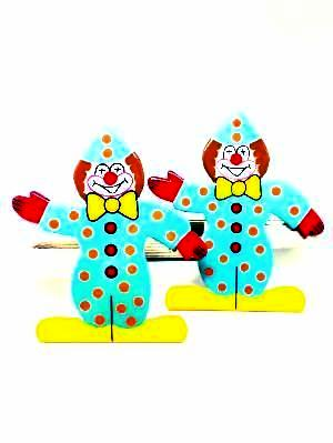 childrens wooden circus clown curtain tie backs