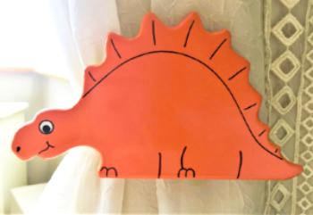 Stegosaurus Curtain Tie Backs - Orange