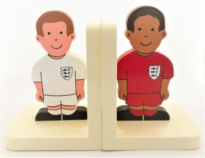 childrens wooden football bookends