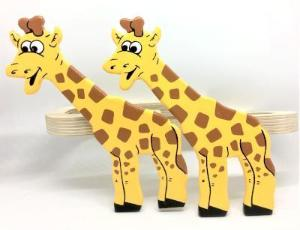 childrens wooden giraffe curtain tie backs