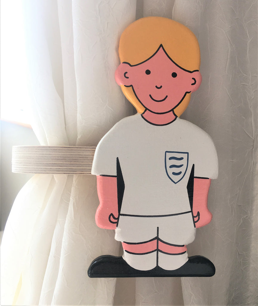 Football girls curtain tie backs