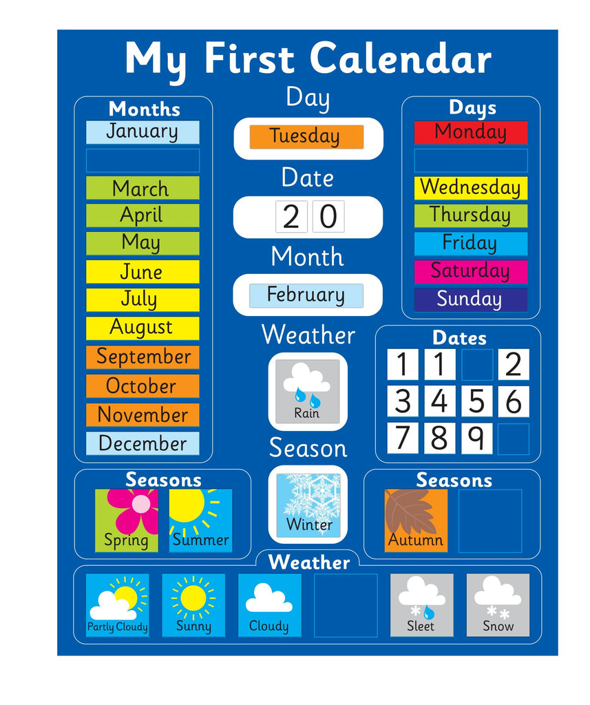 My First Magnetic Calendar - Blue