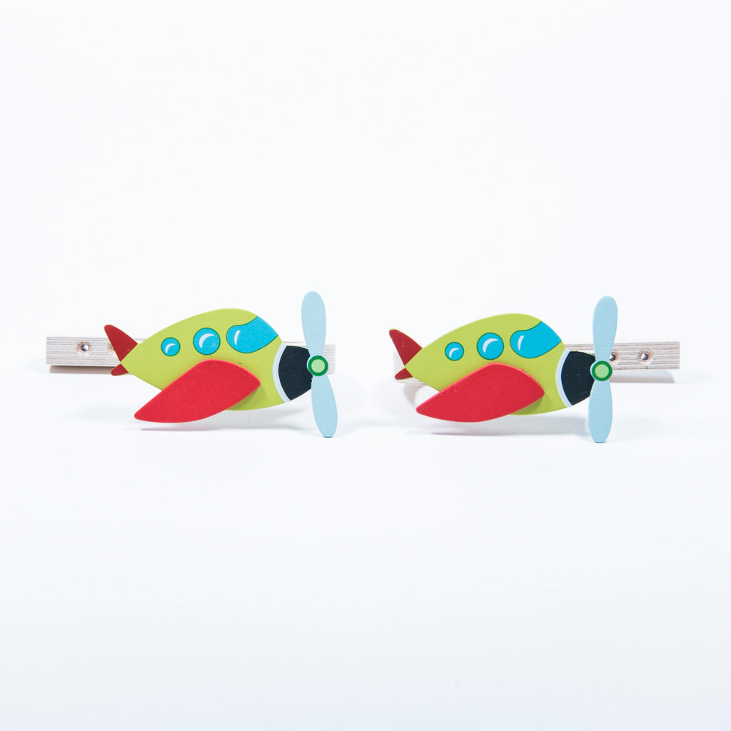 children's aeroplane curtain tie backs