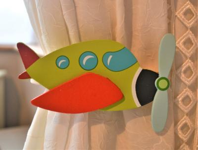childrens aeroplane curtain tie backs