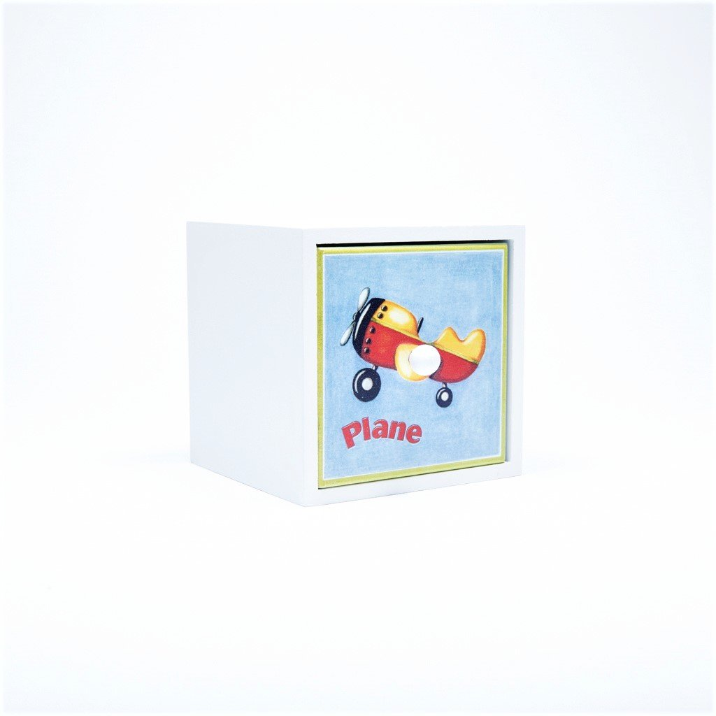 children's aeroplane storage cube
