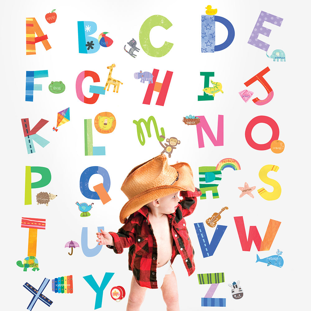 alphabet fun wall stickers