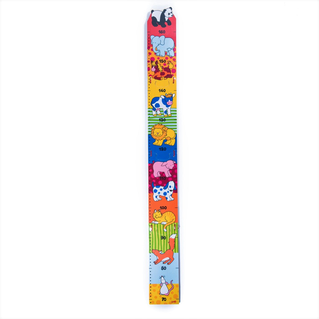 childrens animals jigsaw puzzle height chart