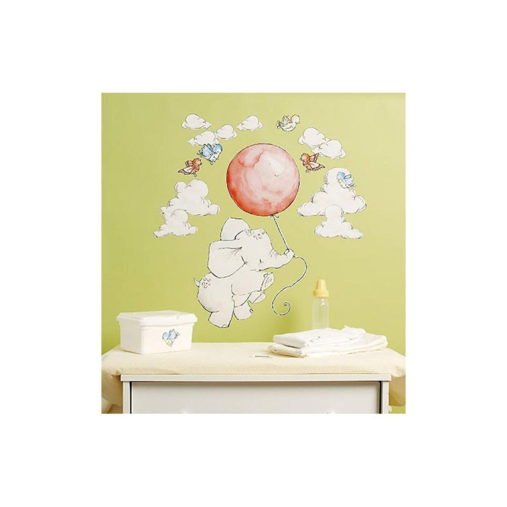 nursery baby elephant flying high wall stickers