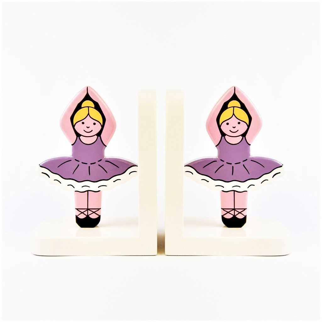 children's wooden ballerina bookends